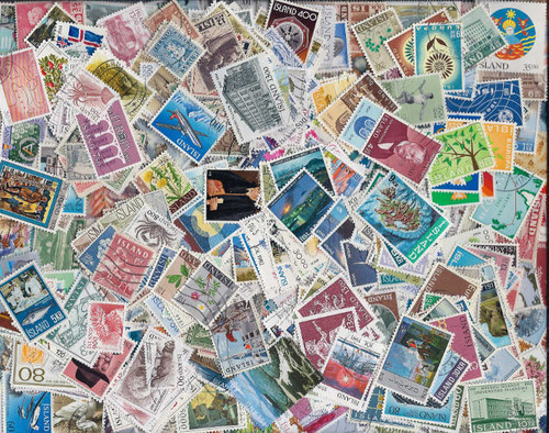 Iceland Stamp Collection - 500 Different Stamps