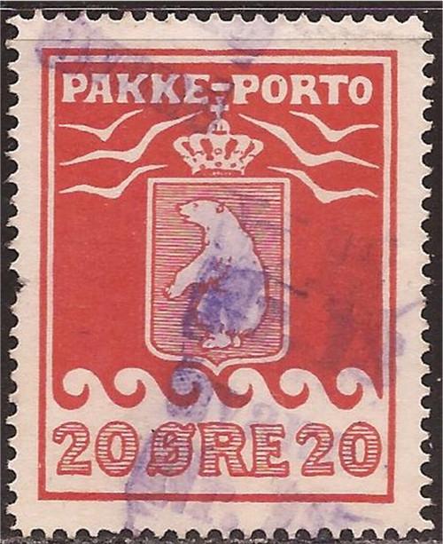 Greenland - 1915 20o Parcel Post Stamp Used - Scott #Q6