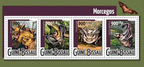 Guinea-Bissau - 2015 Bats - 4 Stamp Sheet - GB15421a