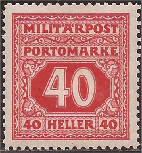 Bosnia & Herzegovina - 1916 40h Postage Due - F/VF MH - Scott #J23