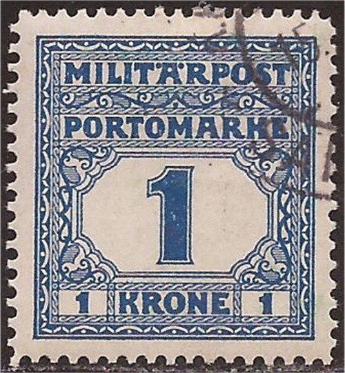 Bosnia & Herzegovina - 1916 1k Postage Due - F/VF U - Scott #J25