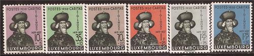 Luxembourg - 1938 Duke Sigismond - 6 Stamp Set - F/VF MH #B92-7