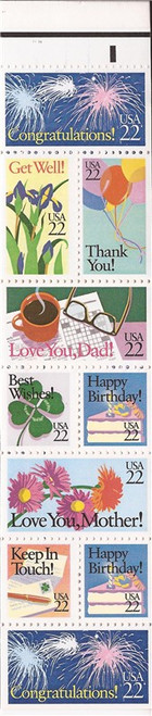 US Stamp - 1987 Special Occasions - Booklet of 10 Stamps #BK155