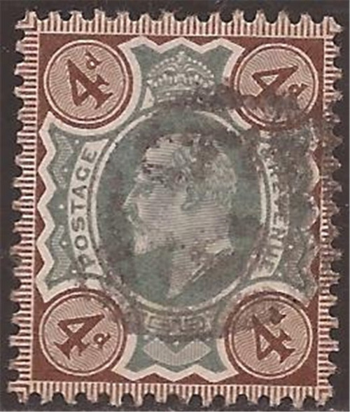 Great Britain - 1902 4p King Edward VII - F/VF Used #133 Cat Val $35