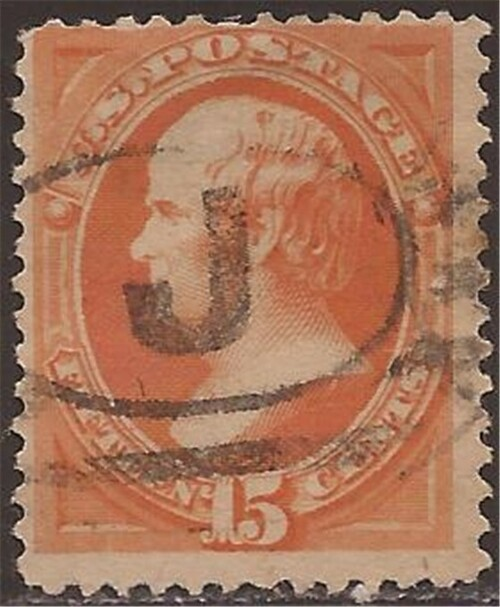 US Stamp - 1870 15c Webster Bank Note No Grill F/VF U #152 CV $220