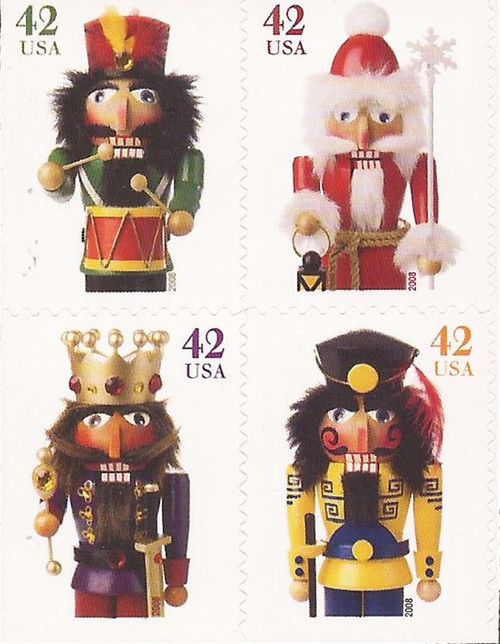 US Stamp - 2008 Christmas Nutcrackers - Block of 4 Stamps #4367a