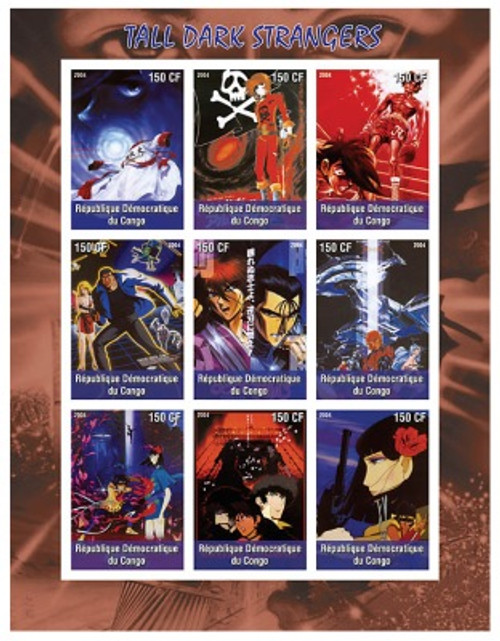 Japanese Animation On Stamps - 9 Stamp Mint Sheet 105-23