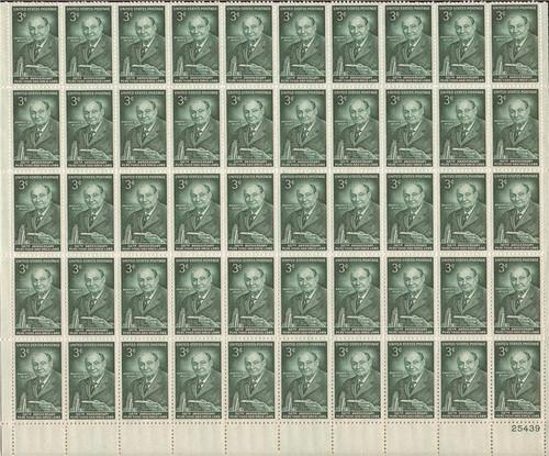 US Stamp - 1956 Pure Food & Drug Laws - 50 Stamp Sheet - Scott #1080