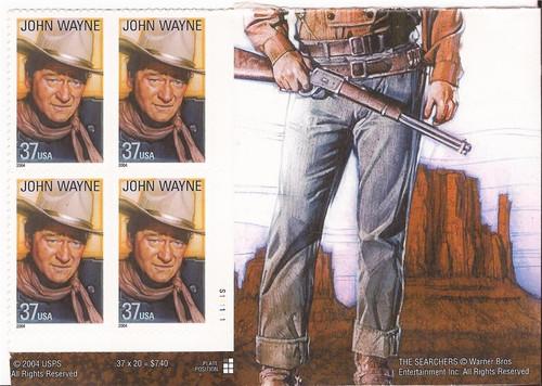 US Stamp - 2004 John Wayne - Plate Block of 4 Stamps - F/VF MNH #3876