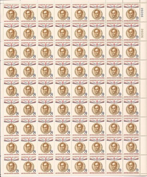 US Stamp - 1958 Simon Bolivar - 72 Stamp Sheet - Scott #1111