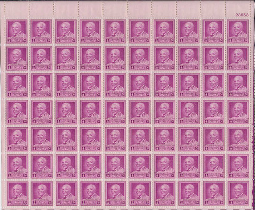 US Stamp - 1948 George Washington Carver - 70 Stamp Sheet #953