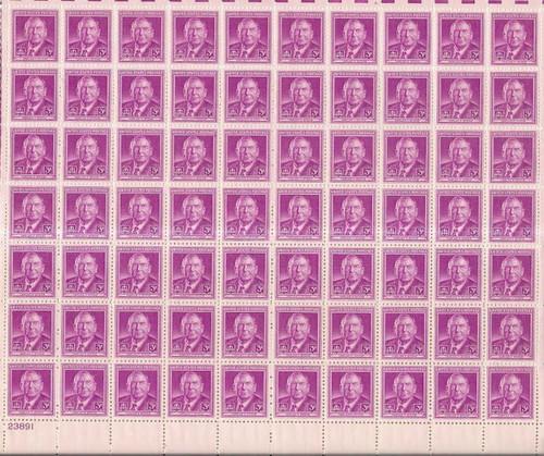 US Stamp - 1948 Justice Harlan Stone - 70 Stamp Sheet - F/VF MNH #965