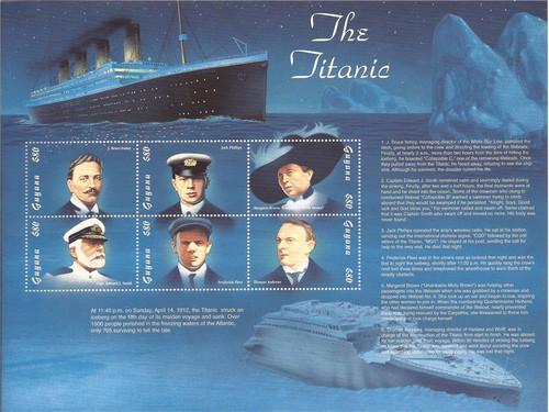 Guyana - 1998 The Titanic - 6 Stamp Sheet - MNH - Scott #3307