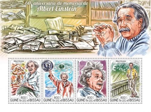Guinea-Bissau - 2015 Albert Einstein - 3 Stamp Sheet - GB15114a