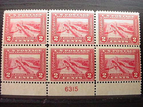 1913 2c Pan-Pacific Expo Plate Block of 6 Stamps F/VF MNH #398 CV $625