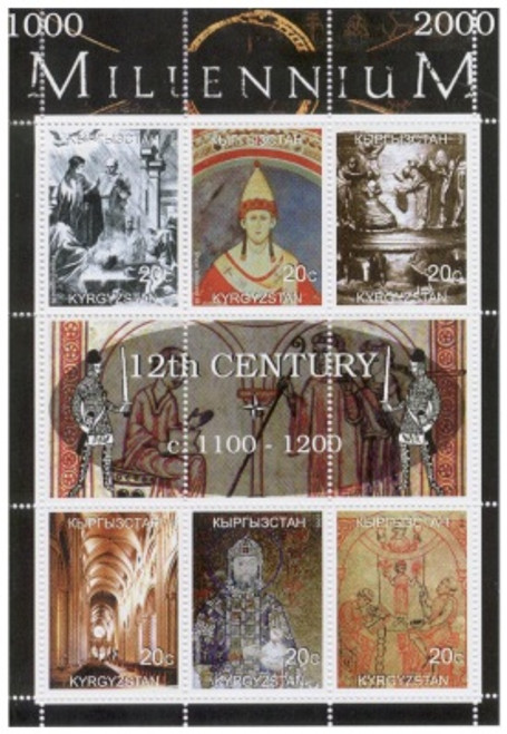 12th Century Highlights On Stamps - 6 Stamp MInt Sheet K-M12