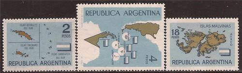 Argentina - 1964 Antarctic Territories - 3 Stamp Set MNH #757-8, C92