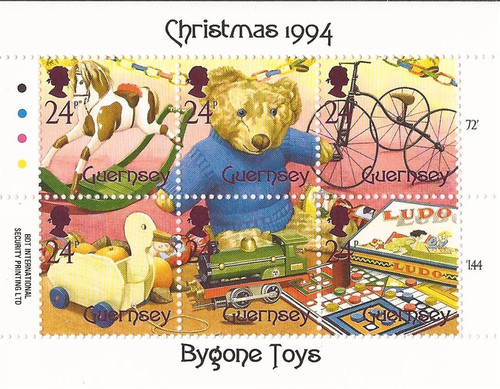 Guernsey - 1994 Christmas Antique Toys - 6 Stamp Sheet - MNH #542
