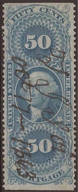 US Stamp - 1863 50c Mortgage Revenue Stamp - Part Perf. - F/VF #R59b