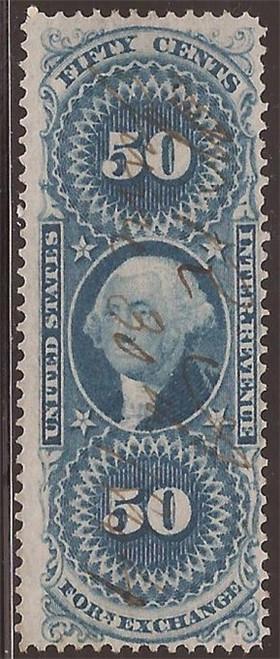 US Stamp - 1863 50c Foreign Exchange Revenue Stamp - F/VF #R56c