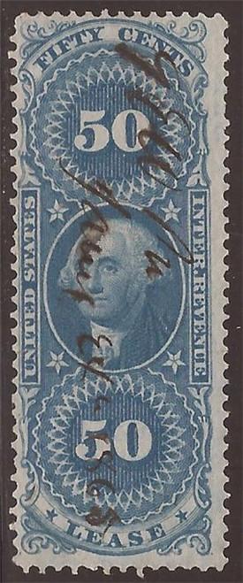 US Stamp - 1863 50c Lease Revenue Stamp - F/VF - Scott #R57c