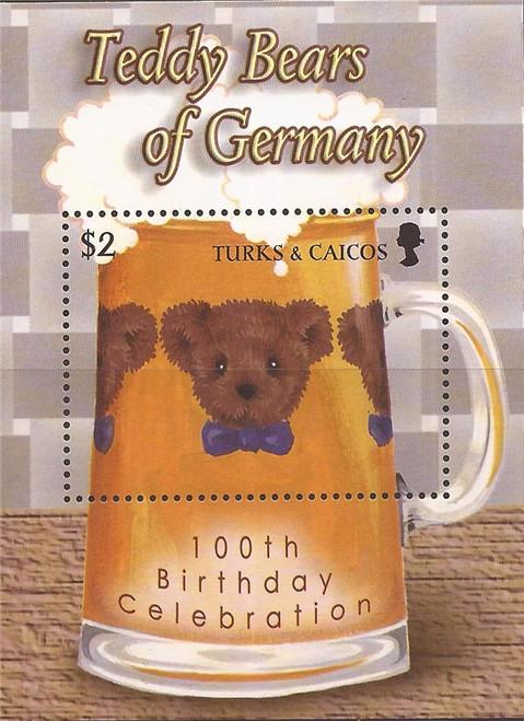 Turks & Caicos - 2003 Teddy Bears of Germany - Souvenir Sheet #1421