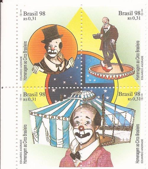 Brazil - 1998 Circus - Block of 4 Stamps - MNH - Scott #2673