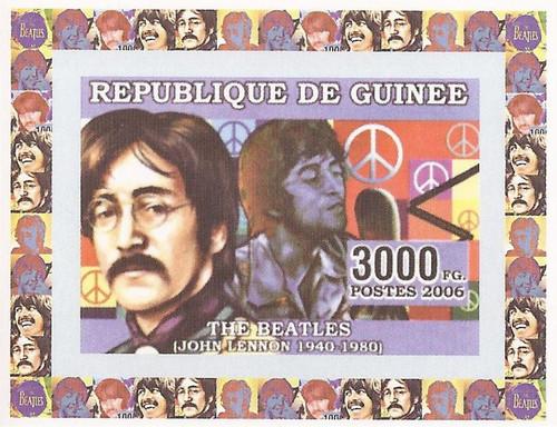 Guinea - 2006 Beatle John Lennon - Imperf. Souvenir Sheet MNH - 7B-001