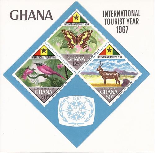 Gambia - 1967 Int'l Tourist Year - 4 Souvenir Sheet - MNH Scott #318a