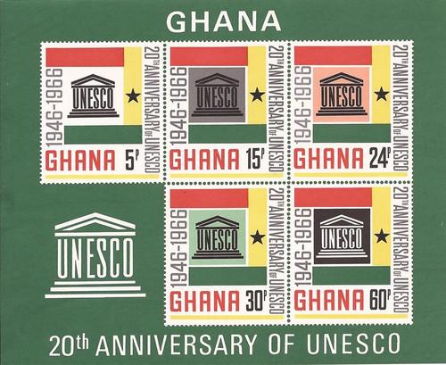 Gambia - 1966 UNESCO - 5 Stamp Souvenir Sheet - MNH Scott #268a