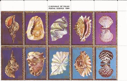 Palau - 1984 Sea Shells - Block of 10 Stamps - MNH - Scott #50a