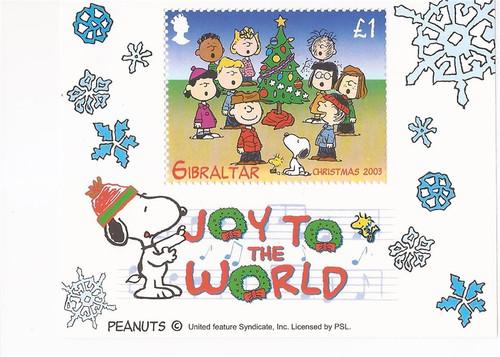 Gibraltar - 2003 Peanuts Christmas - Souvenir Sheet - MNH - Scott #959