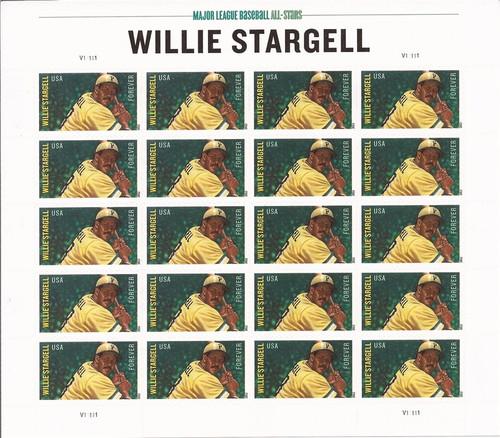 US Stamp 2012 Hall of Famer Willie Stargell Sheet 20 Forever Stamps #4696