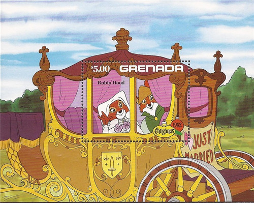 Grenada - 1982 Disney Christmas Robin Hood - Souvenir Sheet #1136
