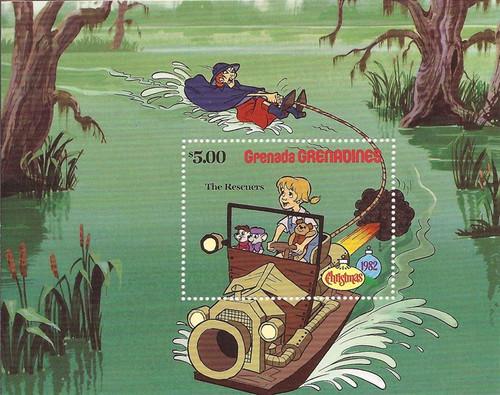 Grenada Grens - 1982 Disney Rescuers - Stamp Souvenir Sheet #528