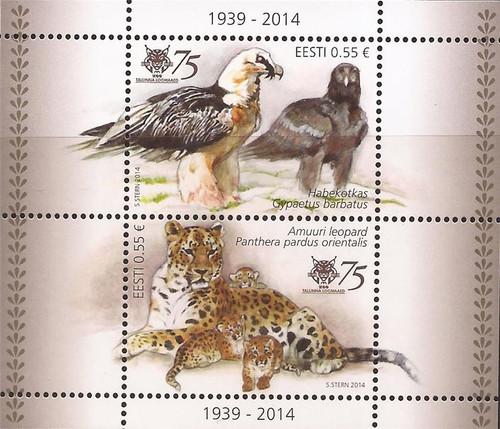 Estonia - 2014 Tallinn Zoo - 2 Stamp Sheet - Scott #766 - 5F-036