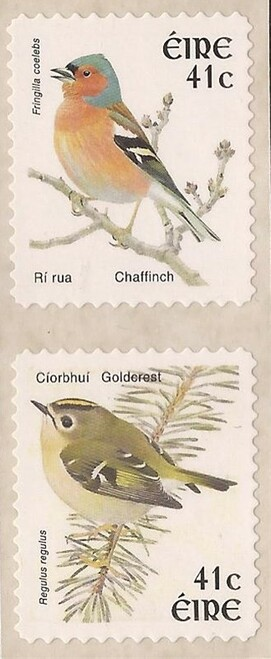 Ireland - 2002 Birds - 2 Stamp Coil Pair - MNH - Scott #1395-6