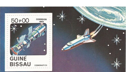Guinea-Bissau - 1983 Space - Stamp Souvenir Sheet - MNH #472