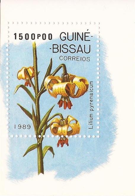 Guinea-Bissau - 1989 Lilies - Stamp Souvenir Sheet - MNH #794