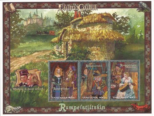 Tanzania - 1997 Rumpelstiltskin - 3 Stamp Sheet - Scott #1598