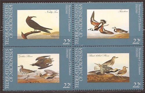 Micronesia - 1985 Birds - 4 Stamp Block - 13Q-091 - Scott #28a