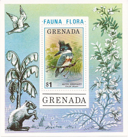 Grenada - 1976 Birds - Stamp Souvenir Sheet - Scott #699