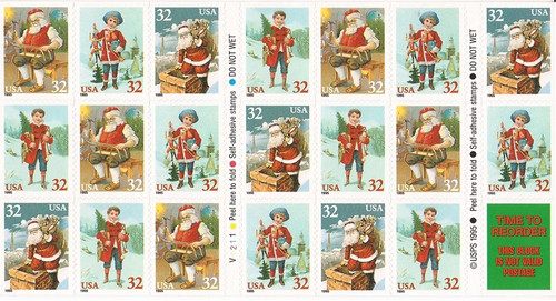 US Stamp - 1995 Christmas - Booklet of 20 Stamps - Scott #3011a