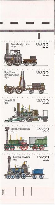 US Stamp - 1987 Steam Locomotives - Booklet of 20 Stamps #BK163