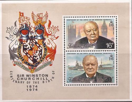 Falkland Islands - 1974 Winston Churchill - 2 S/S - VF MNH #236a