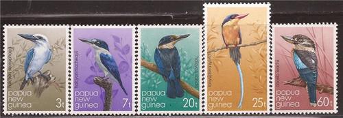 Papua New Guinea - 1981 Birds - 5 Stamp Set - Scott #529-33