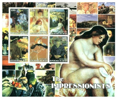 Impressionist Paintings Stamp Sheet