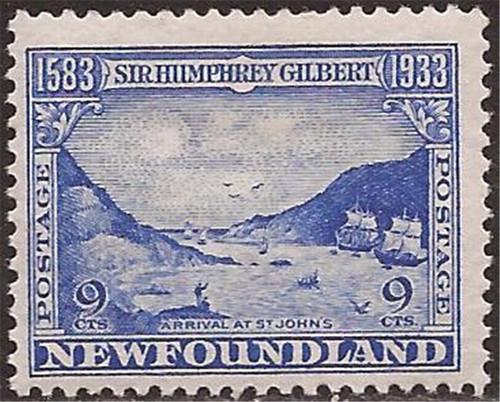 Newfoundland - 1933 9c Ships Arriving Stamp - F/VF MH - Scott #219