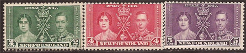 Newfoundland - 1937 Coronation - 3 Stamp Set - F/VF MH - Scott #230-2