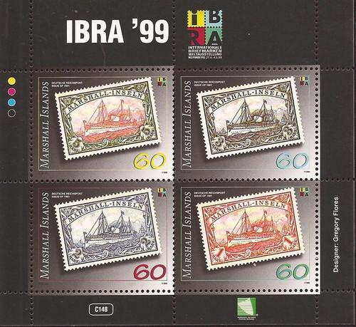 Marshall Islands - 1999 Stamp on Stamp - 4 Stamp Sheet - Scott #705